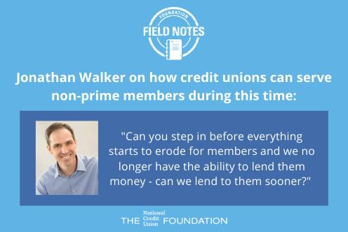 Jonathan Walker on lending to non-prime members early