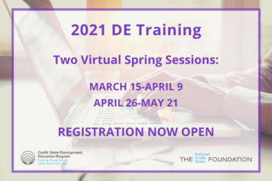 2021 Spring DE Training Open