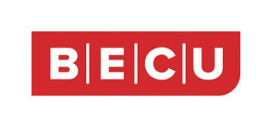 red text on white background saying BECU