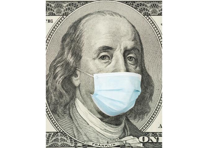 Mask on Ben Franklin
