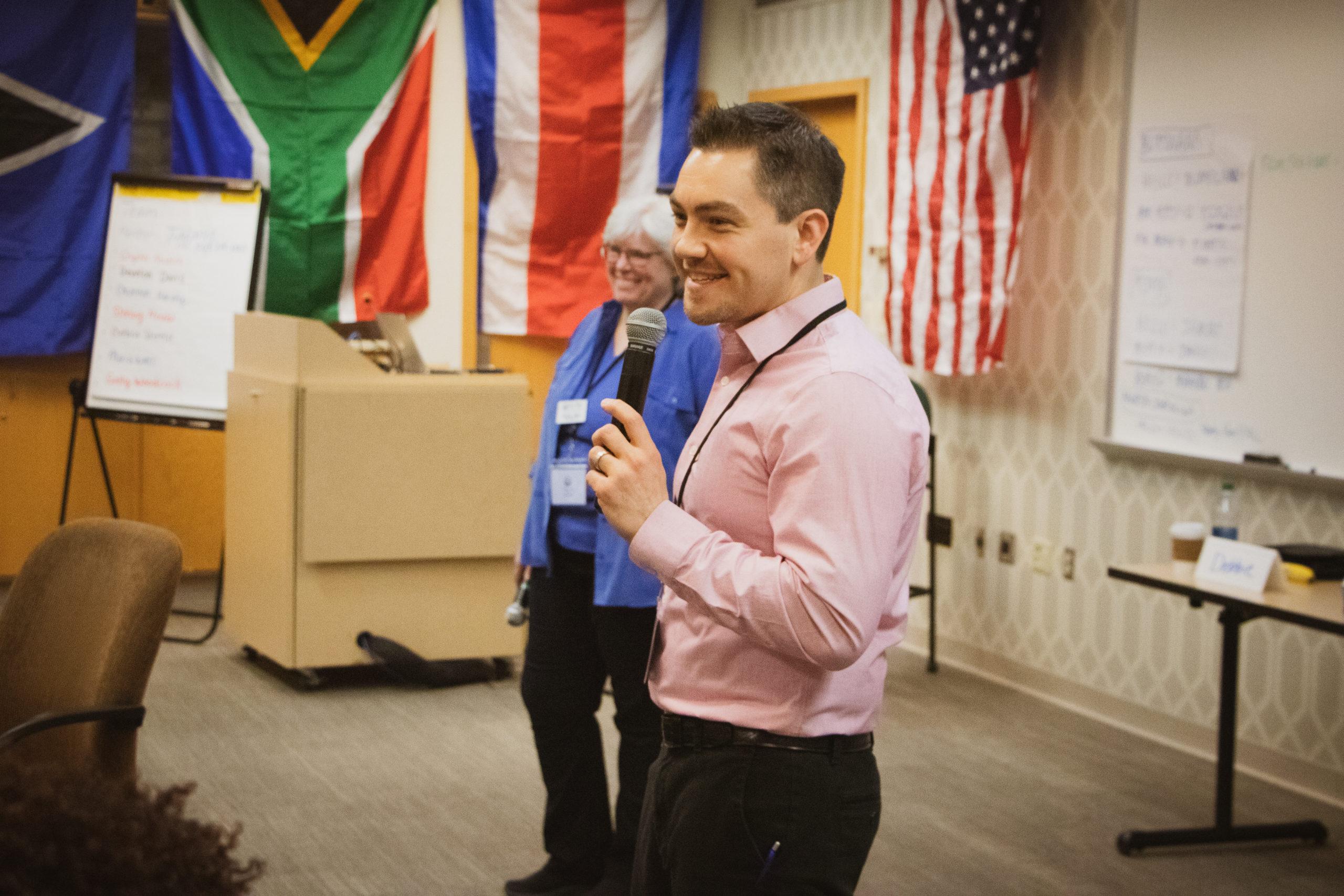 Chad Helminak Speaking at DE Training