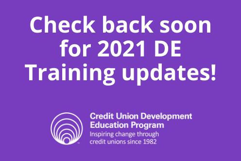 Check Back for 2021 DE Training Updates