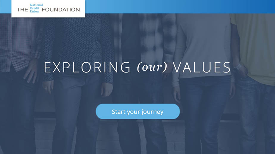 exploring values home page