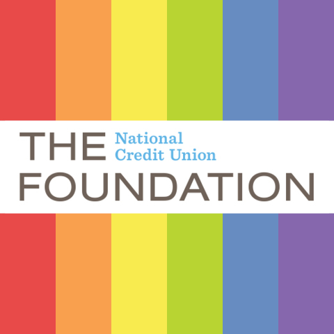 rainbow logo of The national credit union foundation