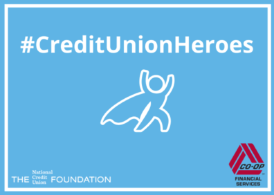 Credit union heroes with foundation and co-op logos