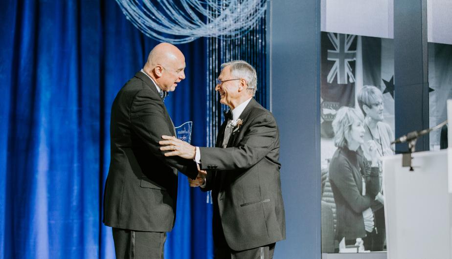 John Fiore Accepting Wegner Award