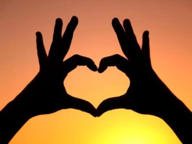 hands forming heart