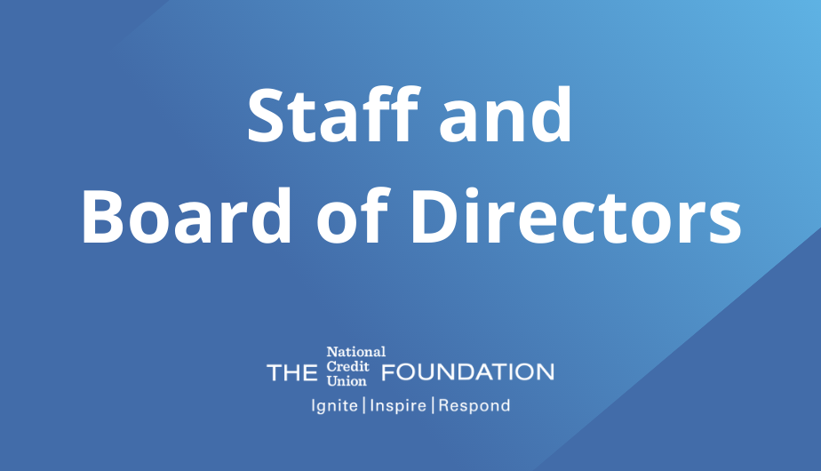 Staff & Board of Directors