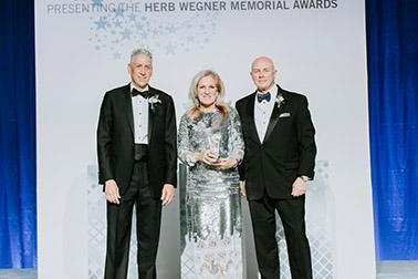 Teresa Freeborn accepting her Wegner Award