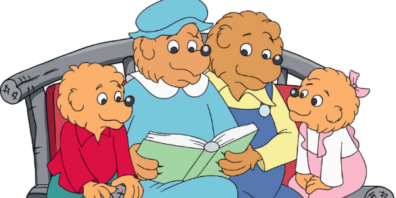The Berenstain Bears Reading a Book