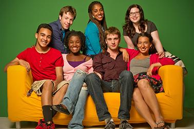 biz kids cast on couch