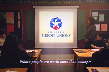 americas credit unions logo on screen