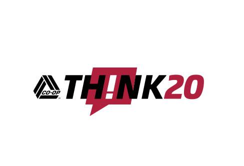 CO-OP think 20 logo