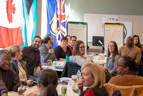 cude participants at table