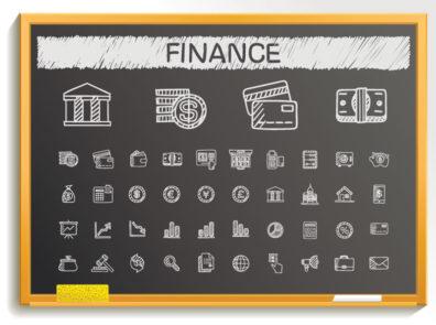Financial Literacy Chalkboard