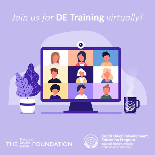 DE Training Virtually Announcement